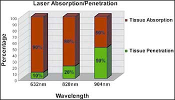 Laser Absorption and Penetration